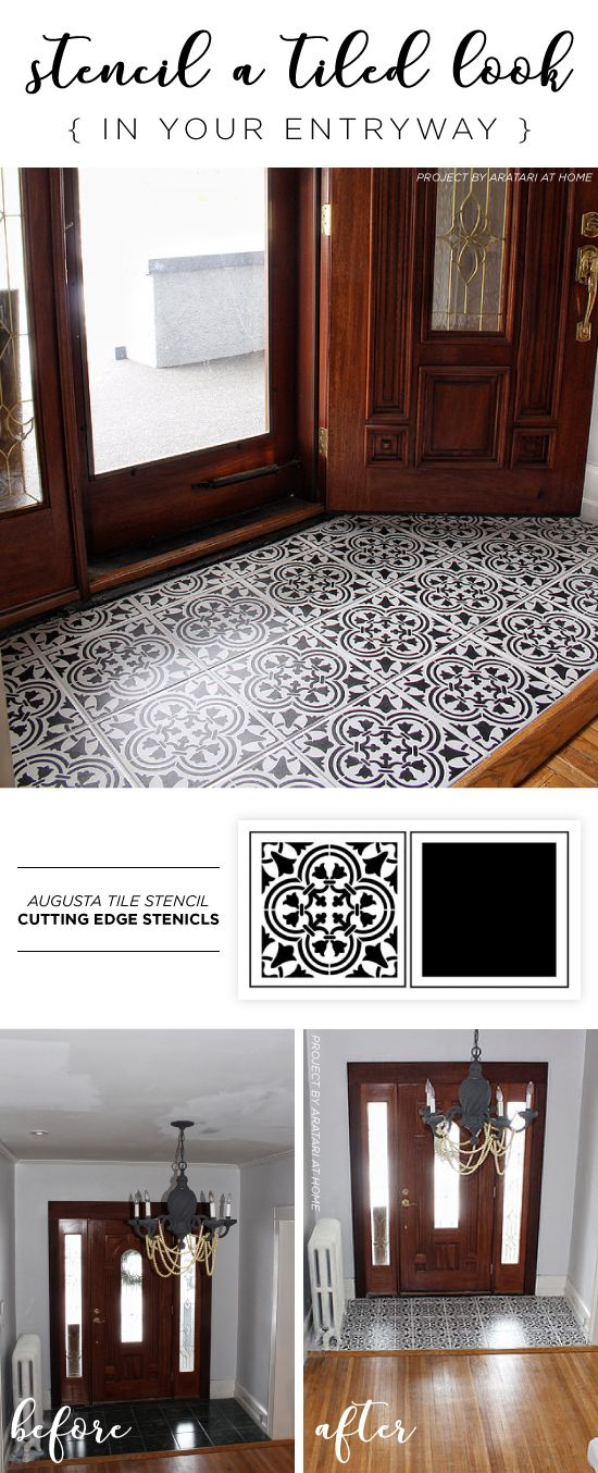 25 Best Ideas About Stenciled Floor On Pinterest