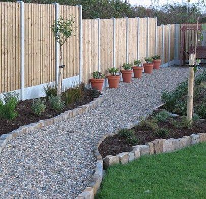 Gravel Walkway With Planters Outdoor Design Pinterest