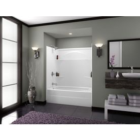 Shop Delta White Acrylic One Piece Shower Common 36 In X 37 In Actual 76 In X 35875 In X 36