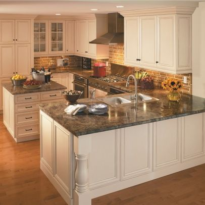 Countertops White Cabinets And Kitchens With Islands On
