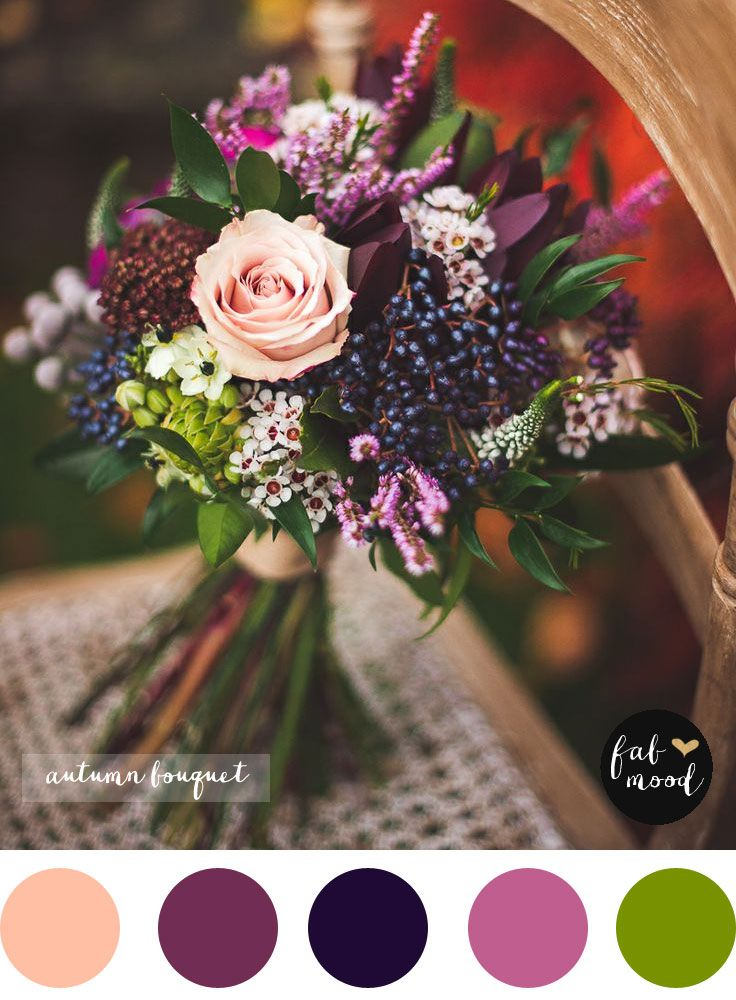 Fall purple wedding bouquet,Autumn Wedding Bouquet   mage by Rebekah J.Murray Photography. The Fall. Bouquet by Sarah at Mrs