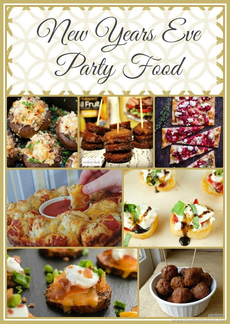 Delicious New Years Eve party food ideas. New Years