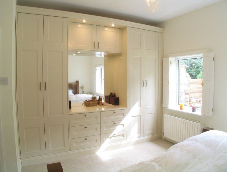 Furniture Built In Sleek Wardrobe Armoire Completed With