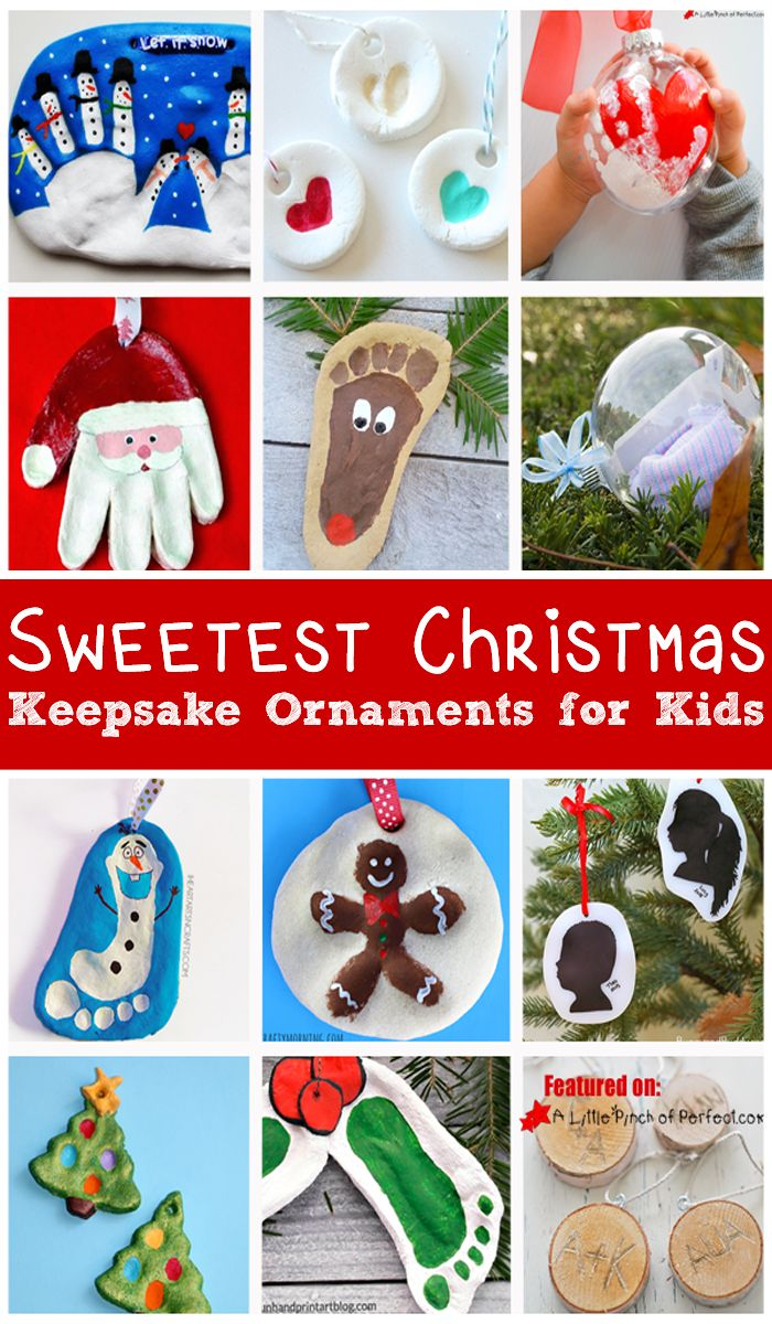 17 of the Sweetest Christmas Keepsake Ornaments for kids