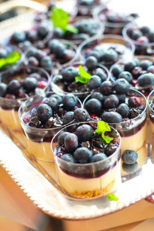 Two-Bite Blueberry Cheesecakes
