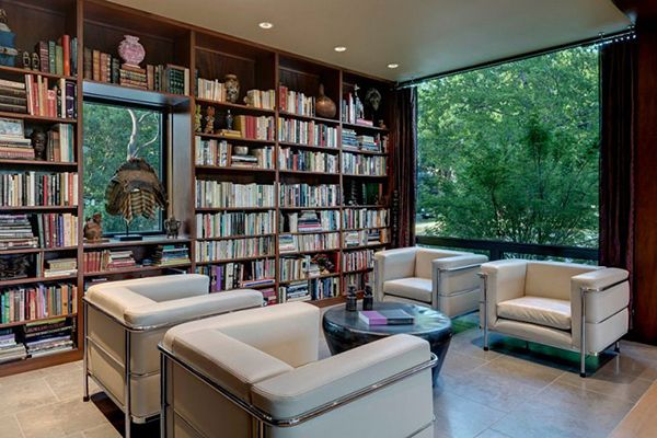 Contemporary Home Design, Marvellous Library Study Room