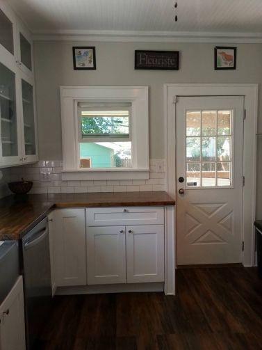 Behr Silver Drop Careths DIY Kitchen Remodel