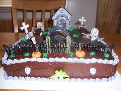 Cemetery Cake Halloween Pinterest Cakes
