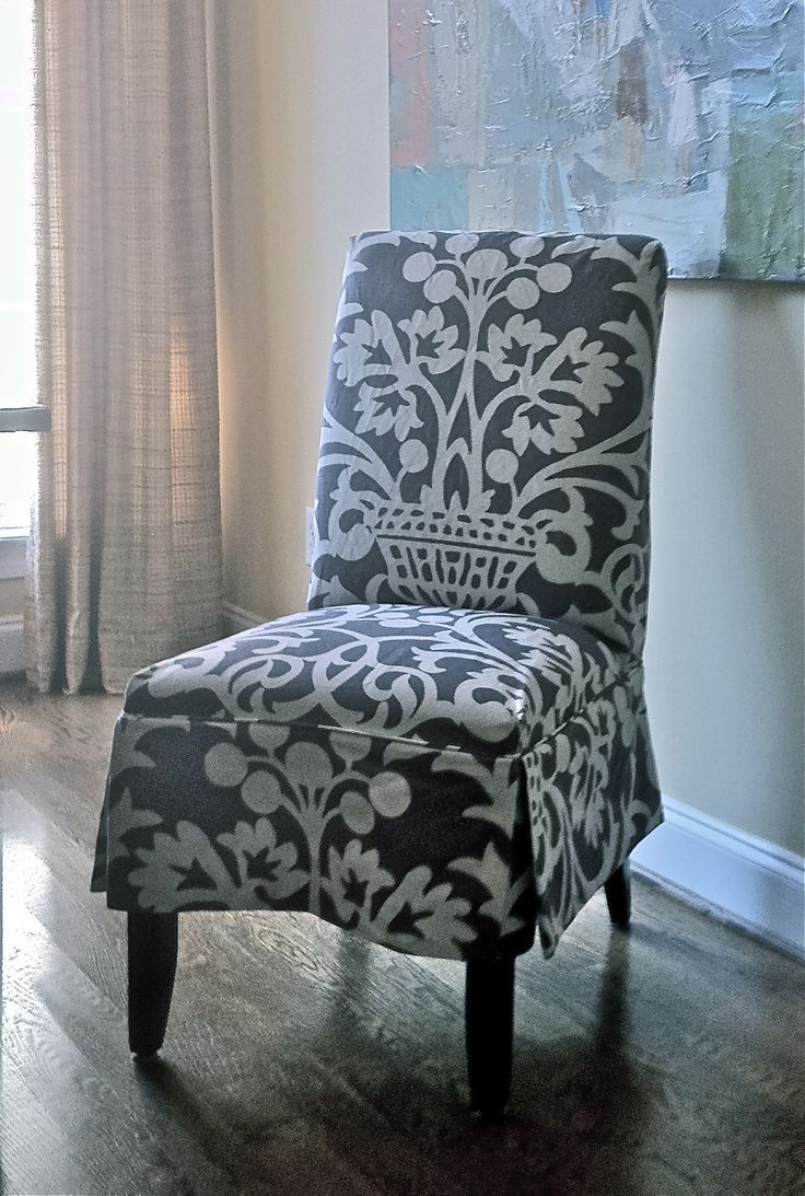 Slipcovered Parson's Chair, design by Elisha Howell
