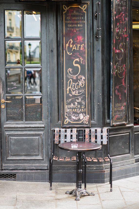 Paris Cafe Fine Art Photograph Cafe St. Regis Large