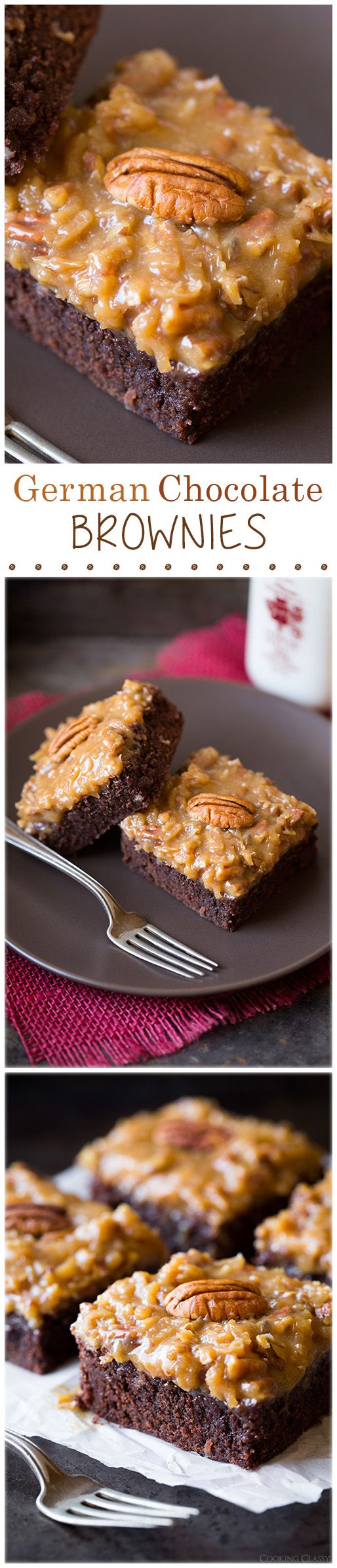 German Chocolate Brownies – they're even better than the cake, they're just totally irresistible!