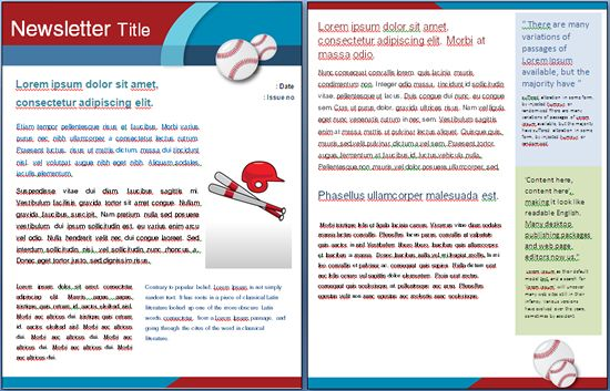 Sports Baseball Template Perfect For A School Sports Event I Newsletter Templates
