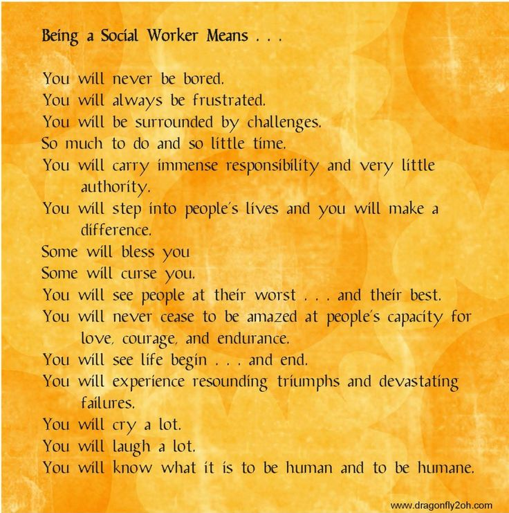 Being a Social Worker Means . . . I AM A Social Worker