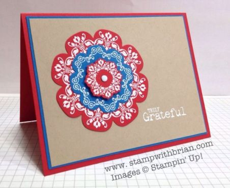 Daydream Medallions, Truly Grateful, Stampin' Up!, Brian King