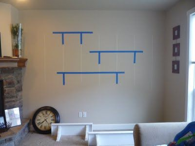 Good tip for hanging shelves