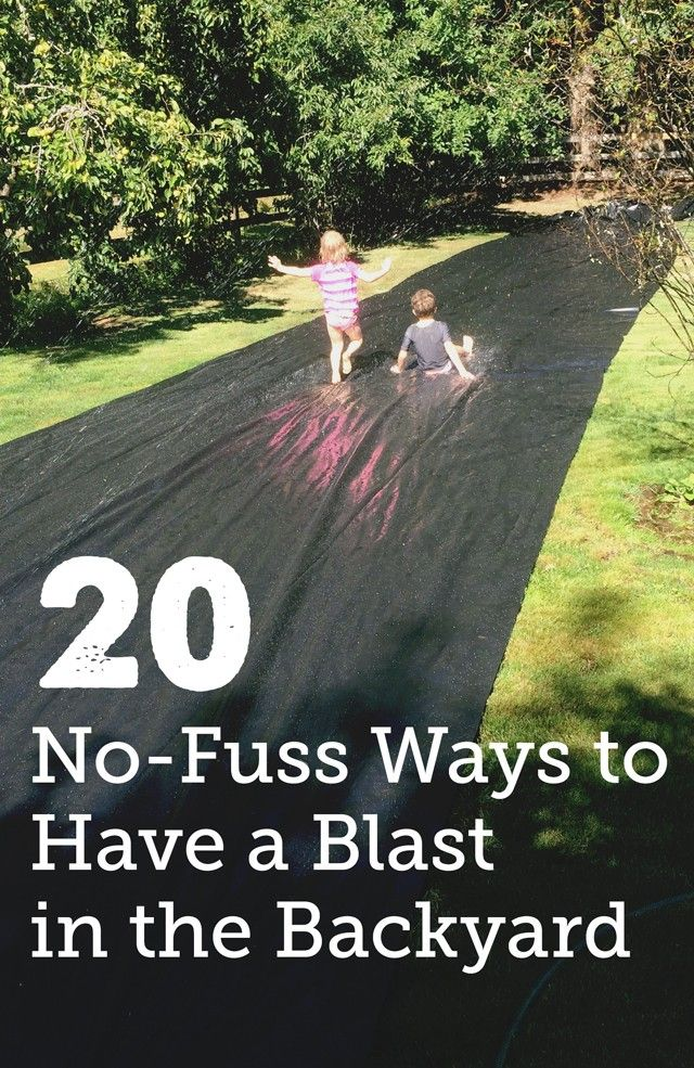 20 No-Fuss Backyard Play Ideas for Kids – Getting so many good ideas for our summer bucket list. Love how easy they all are –