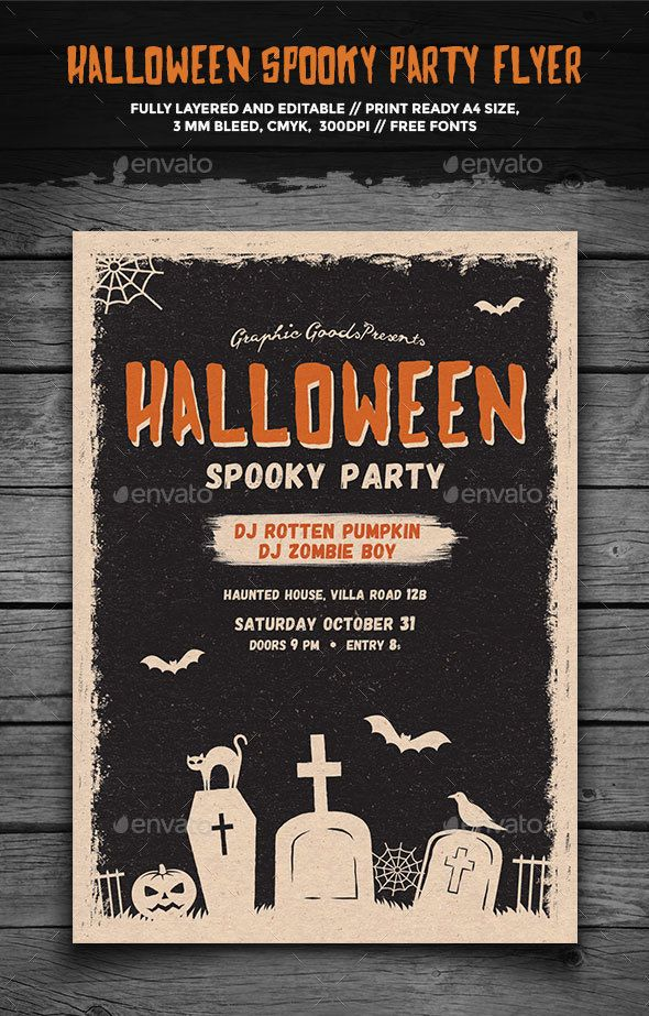 Halloween Spooky Party Flyer Flyers, Halloween and Flyer