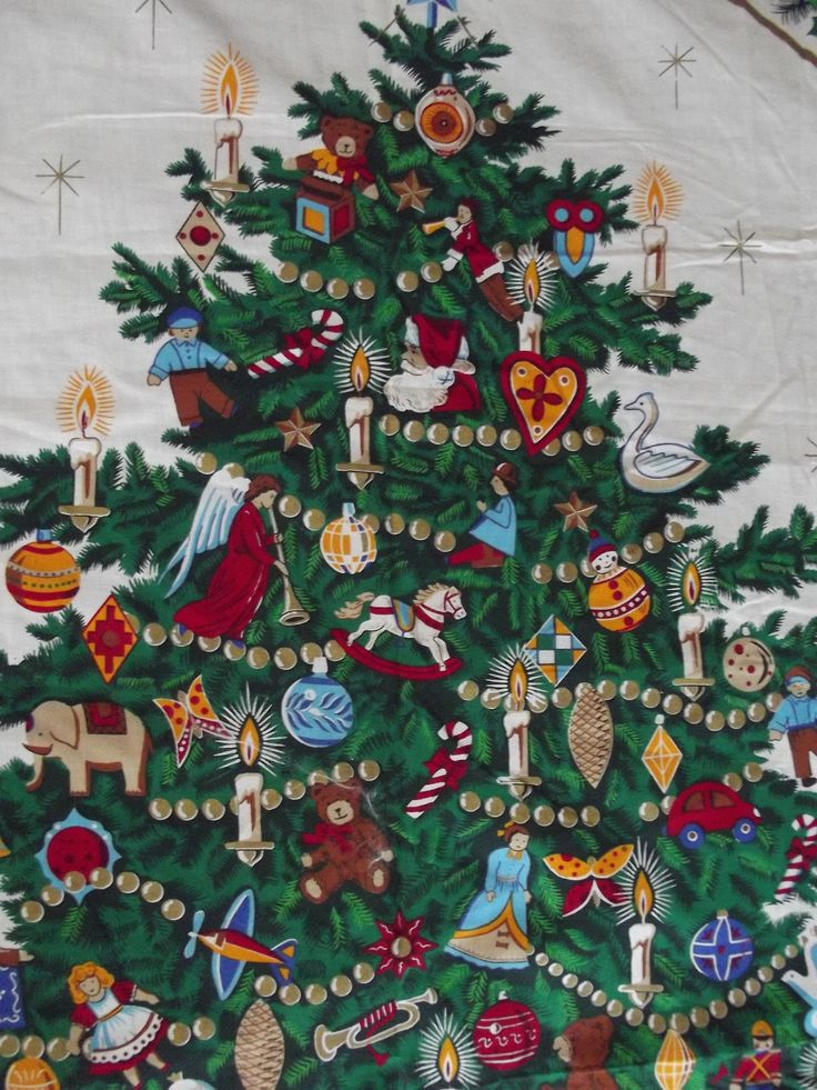 The Night Before Christmas Fabric Craft Panel to Sew a