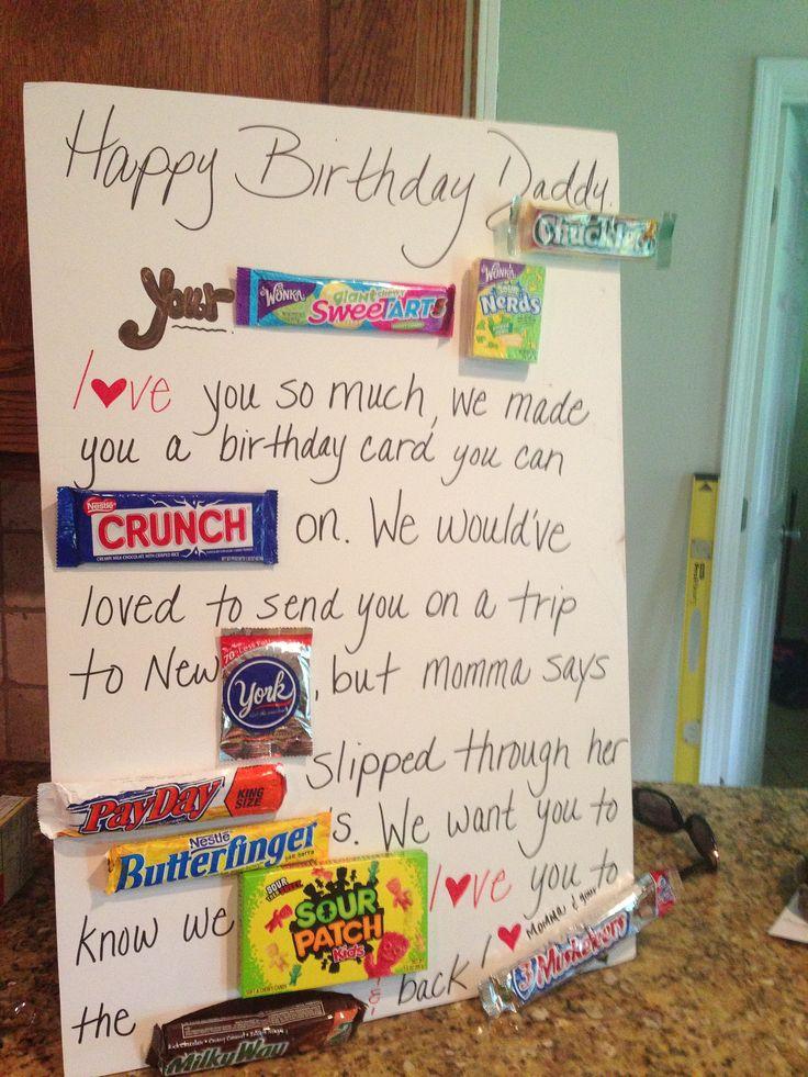 Candy Birthday Card for Dad Birthdays Pinterest Dads
