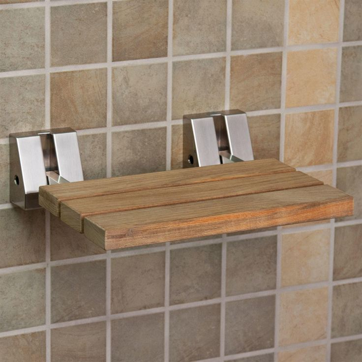 Wall Mount Teak Folding Shower Seat Wall Mount Teak And