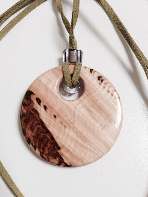 Woodturned Jewelry Pendant WwwAATurningcom Etsy Wood