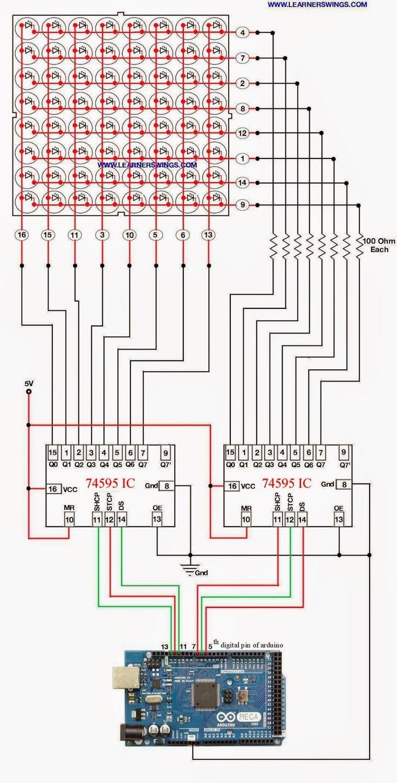 Led Light Display Board Circuit Diagram