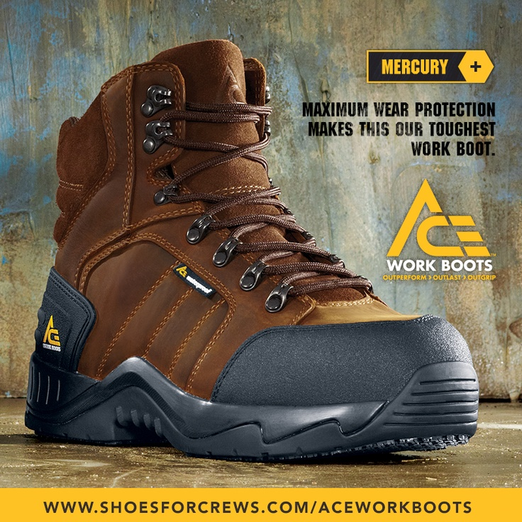 "ACE WORK BOOTS™ MERCURY (Brown) ""Maximum wear protection"