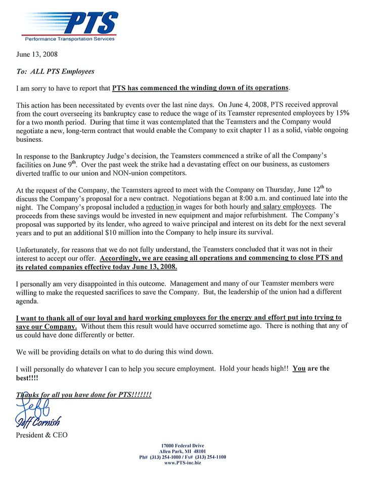 The Closing Of PTS Is Now Official Transport FoolClosing A