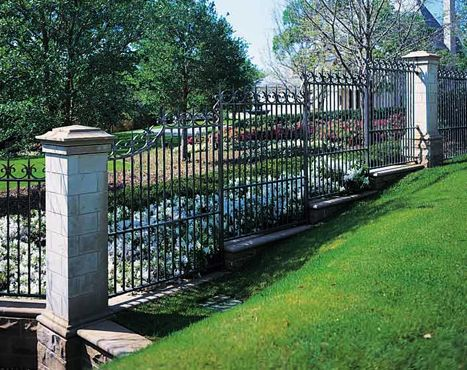 Ornamental Wrought Iron Fence For The Home Pinterest