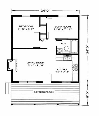 576 sq ft huntsman cabin — and these plans are just 40 bucks!!