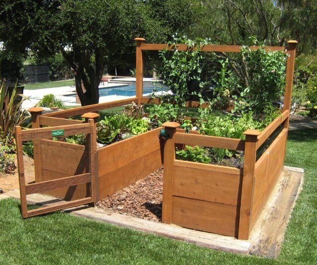 Bed Raised Backyard Vegetable Garden   RAISED BED ORGANIC VEGETABLE GARDEN   See