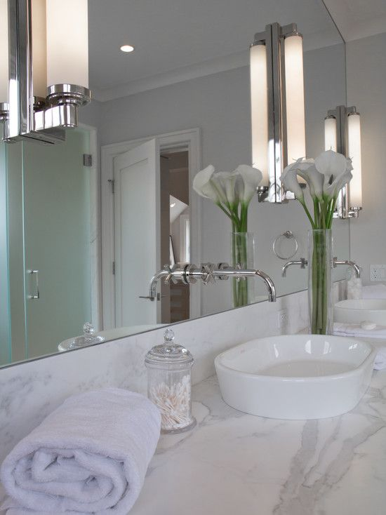 Sconces Bath Mirrors And Porcelain Sink On Pinterest
