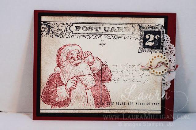 love this jolly Santa!   www.lauramilligan.com