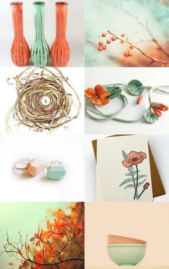 Orange And Mint Green Make An Unusual But Stunning Colour