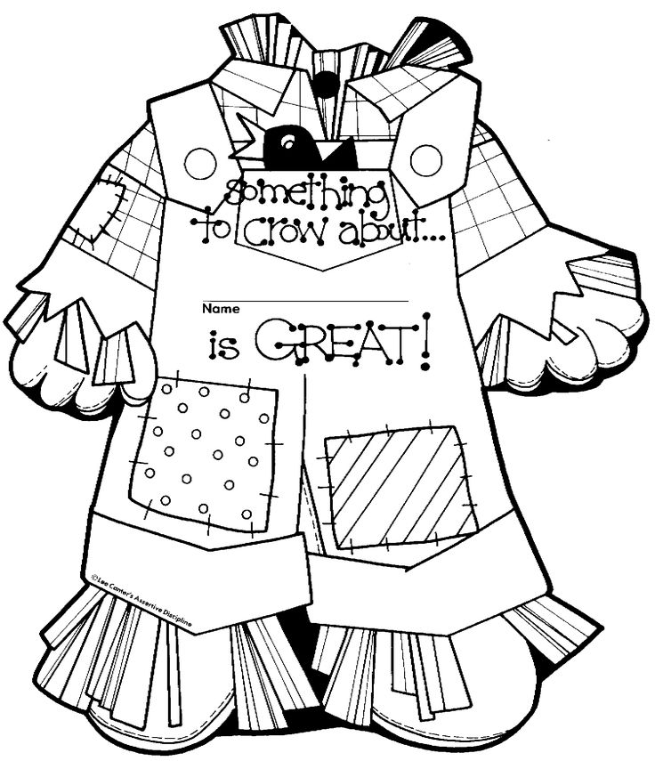 Scarecrows, Coloring and Coloring pages on Pinterest