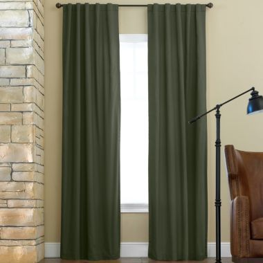 Home Jenner Cotton Twill Rod PocketBack Tab Thermal Curtain Panel Home Jenners And Curtain