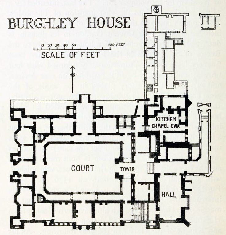 Plan Of Burghley House England Floor Plans Castles