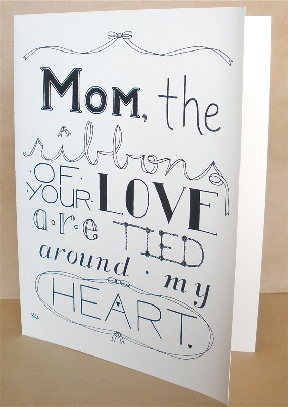 Mother's Day Card, Mom's Day Card. 3.50, via Etsy