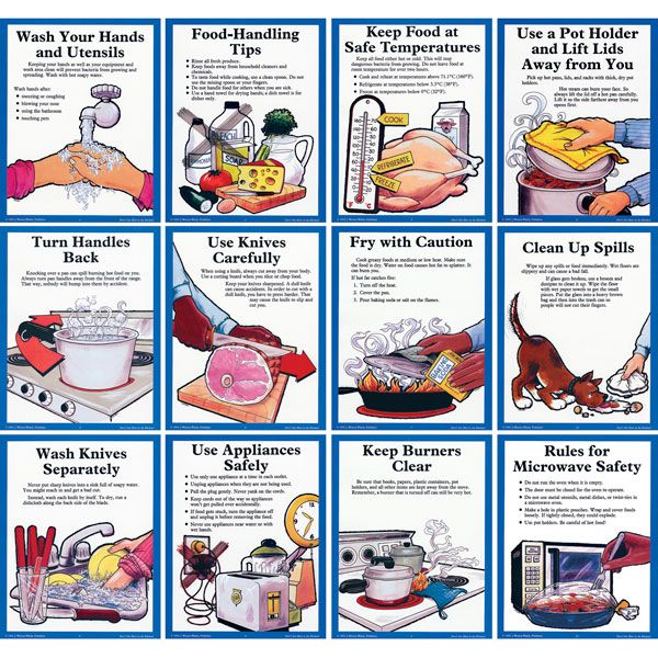 kitchensafety Don't Get Hurt in the Kitchen! Posters