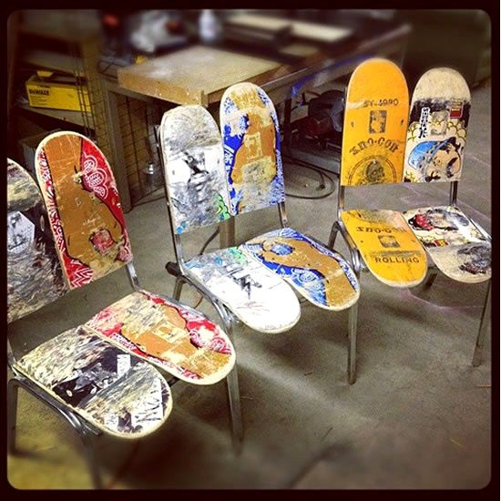 Skateboards Repurpose Old Turn Them Into Shelves Chairs Or Swings