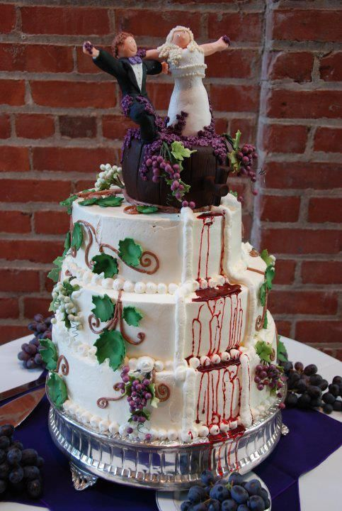 Wine Themed Cake Wedding Cakes Pinterest Wedding Cake