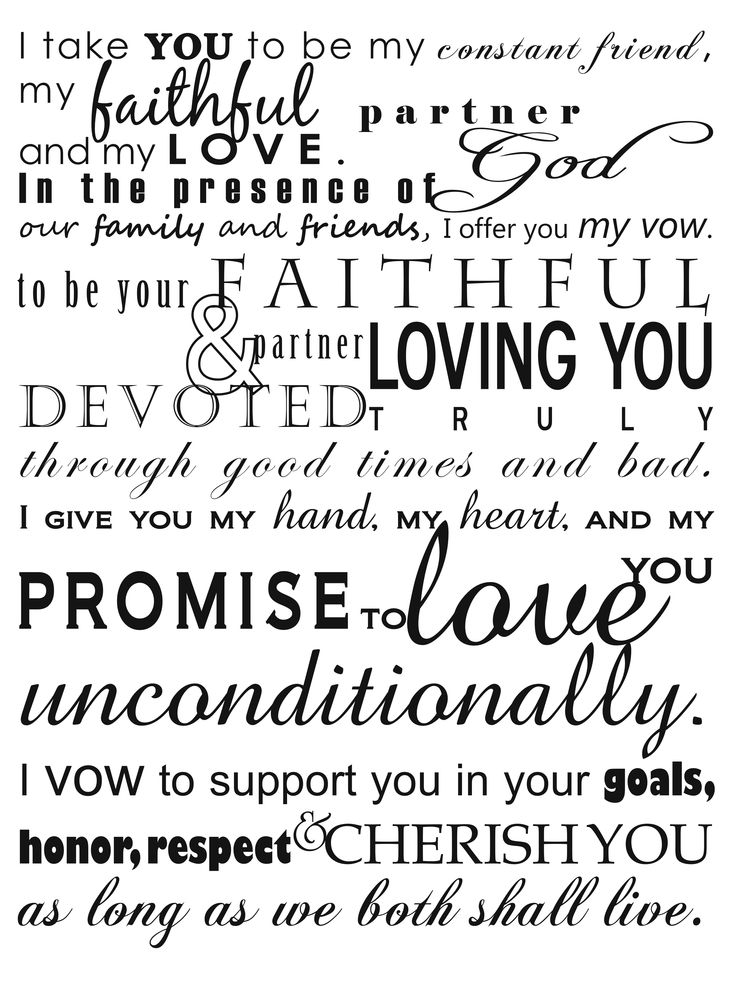 our wedding vows... words that mean forever Vow Renewal