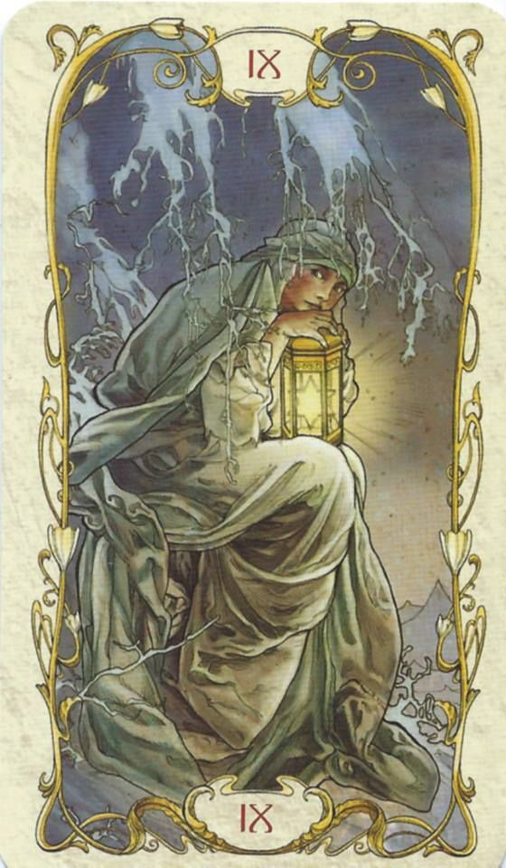 The Hermit Tarot Mucha I Didnt Know There Was A Mucha