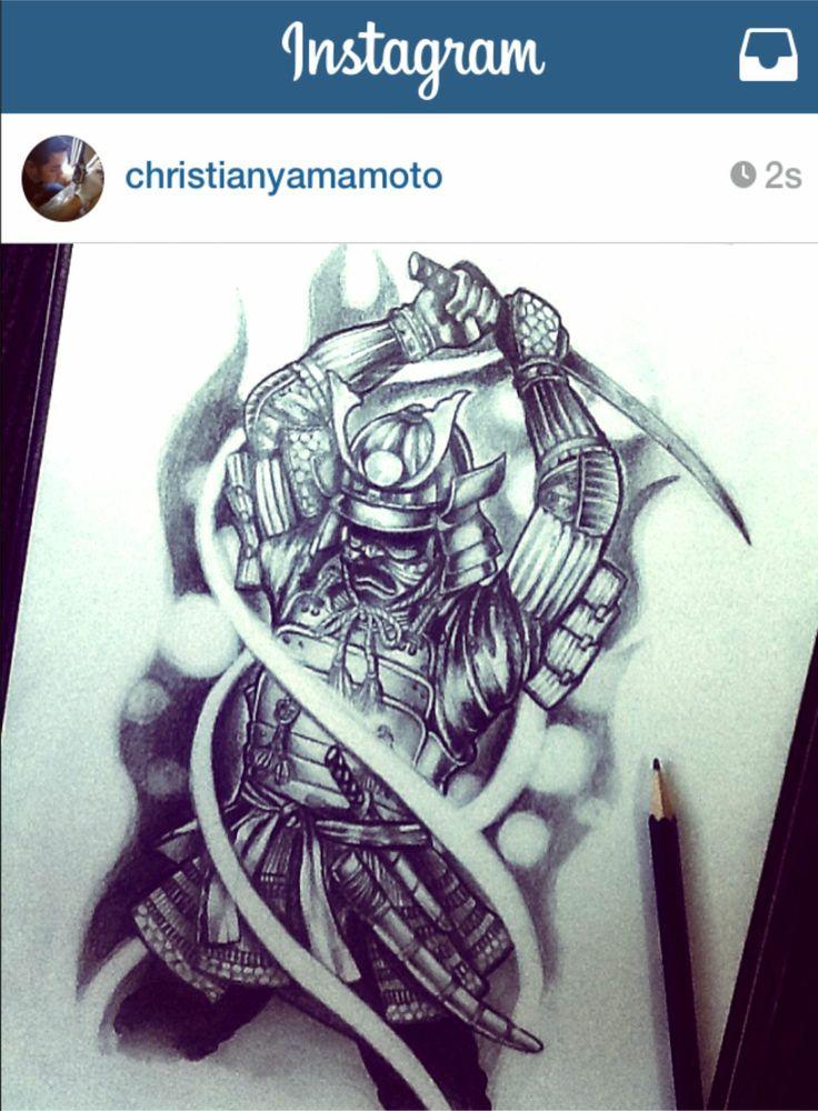 Samurai Sketch tattoo art samurai pencil