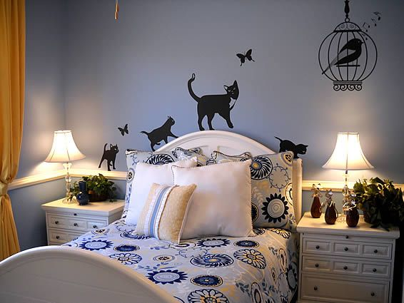 Cat Bedroom Decor Snsm155 Com