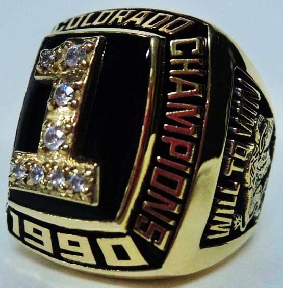 1990 Colorado Buffaloes Ring NCAA Football Rings