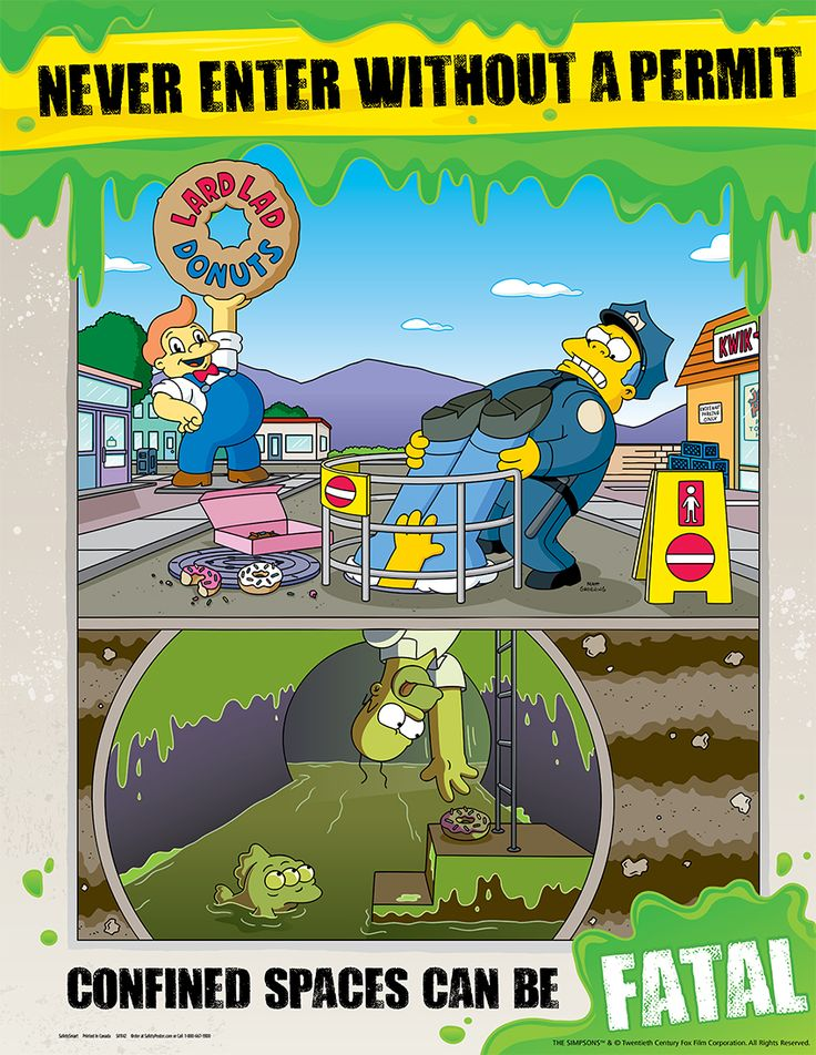 Hazard Identification Safety Posters Simpsons Never