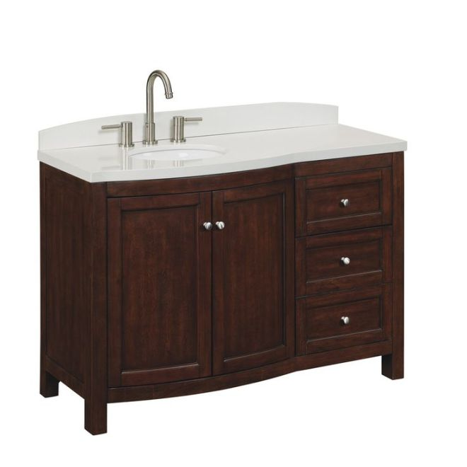 Shop allen + roth Moravia Sable Undermount Single Sink Bathroom Vanity with Engineered Stone Top (Common: 48-in x 20-in; Actual: 48-in x 20-in) at Lowes.com