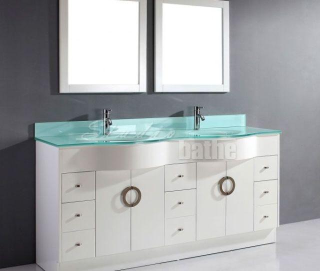 White Bathroom Vanity Double Sink Zoe  Inch Double Sink White Bathroom Vanity Stone Countertop