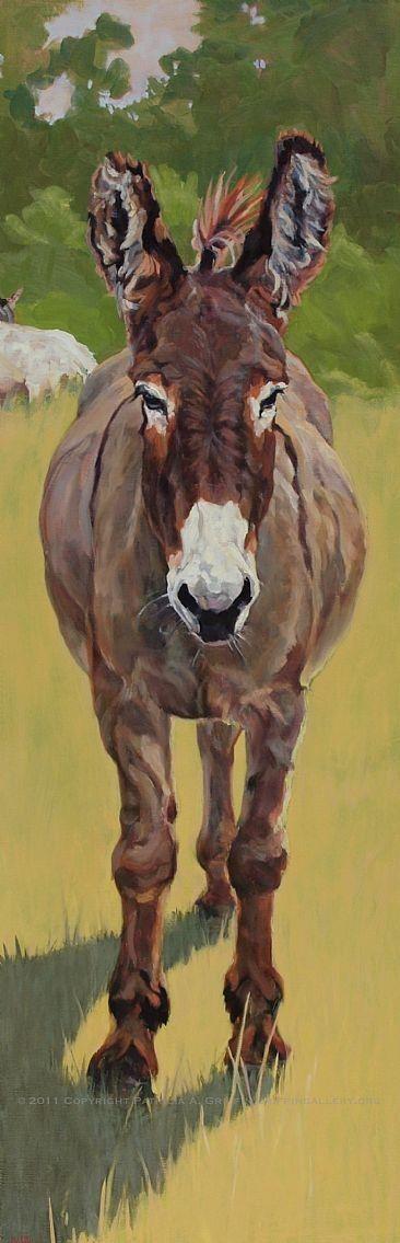 Donkey Painting ART WESTERN COWS Pinterest Donkeys